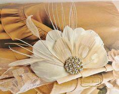Feather Fascinator Wedding Fascinator Bridal by FancieStrands