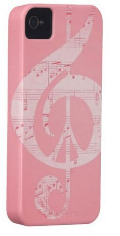 Pale Pink iPhone Case 5 4S 4 3GS Music & Peace by Inspireuart, $35.00