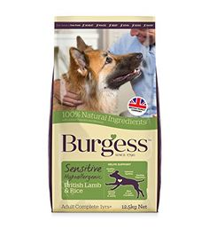 Burgess Sensitive Hypoallergenic Dog Food Adult British Lamb and Rice 12.5kg. Dog food. Dog training. Dog guide. Pet guide. Pet food. It's an Amazon affiliate link.