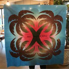 2018.05.12 . .  비가 하루종일 온다. 이런날 좋아☔️ #must_handdyed_fabric #must_fabric #hawaiianquilt #appliquequilt #야자수 #tapestry# design…