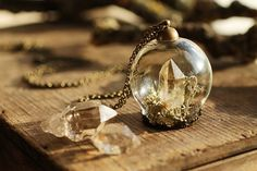 Diamond in the rough necklace  miniature by RubyRobinBoutique