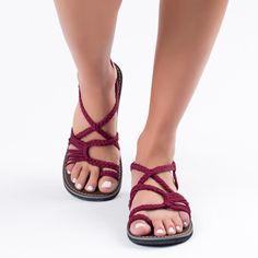 Sunset Sangria Plaka Palm Leaf Sandals  #handmade #sandals #summer #fashion