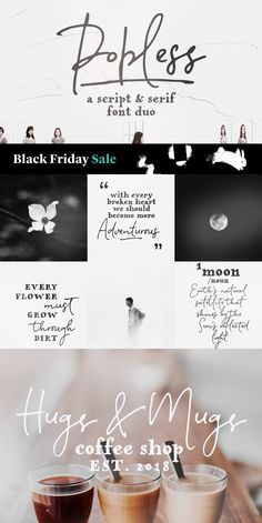 30% off for this week Offer ends November 30th Popless is a hand-lettered font duo with matching swashes. #font #fontduo #handwrittenfont