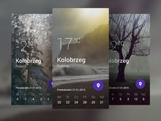 Signa Android UI Design Community — A weather application concept by Andrzej Miałszygrosz