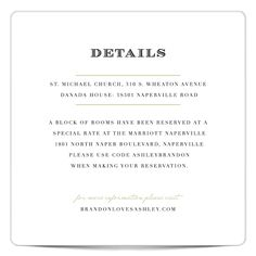 What To Put On Your Info Card Wedding Invitations Pinterest