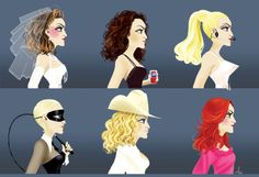 Madonna through the years! Love it!