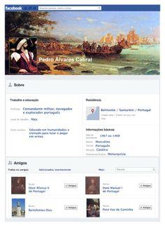 Como seriam os perfis de personagens históricos no Facebook?