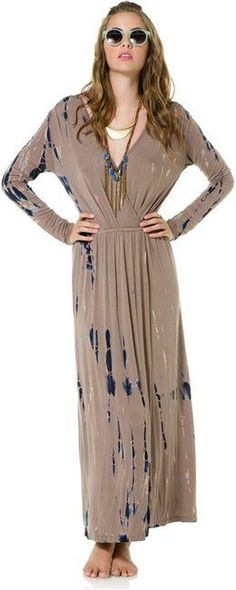 Fraiche by J Hartley tie dye maxi dress. http://www.swell.com/New-Arrivals-Womens/FRAICHE-BY-J-HARTLEY-TIE-DYE-MAXI-DRESS-1?cs=TA