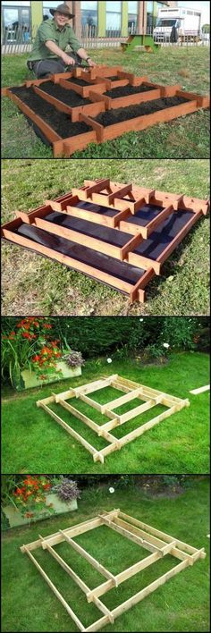 How To Make A Slot Together Pyramid Planter theownerbuilderne. Pyramid planters are great for growing various plants especially if you don't have a lot of space in your garden or (Diy Garden Planters) Diy Garden, Garden Planters, Garden Landscaping, Garden Pallet, Recycled Planters, Garden Boxes, Landscaping Ideas, Outdoor Planters, Recycled Pallets