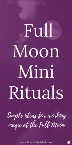 The Full Moon is the high point in the Witch's monthly calendar. Its when magick happens, when you power up your witchcraft, taking back your magical power with a huge lunar boost.     You might not want to do a full magic ritual every month. So in this blog I suggest 10 Mini Rituals suitable for pagan, witch, druid or shaman. Align with moon power and moon magic and celebrate the Full Moon!     #moon #witch #witchcraft #shaman #druid #ritual #magick #wicca
