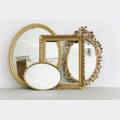 Gold Mirrored Trays.