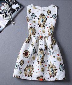 Royalty White Sleeveless Dress