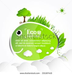 Ecology animal concept. save world vector illustration