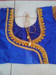Patch Work Blouse Designs, Simple Blouse Designs, Stylish Blouse Design, Blouse Back Neck Designs, Pattu Saree Blouse Designs, Blouse Designs Silk, Designer Blouse Patterns, Blouse Neck Models, Sleeves Designs For Dresses
