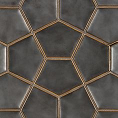 "Ann Sacks -8-3/4"" x 11-7/8"" penta 3d field in metallic black"