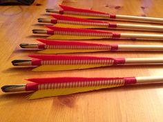 Horn wedge insert, bound, medical style English longbow arrow