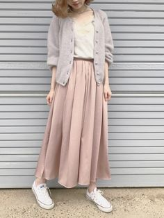 Really nice work korean fashion! Really nice work korean fashion! Modest Dresses, Trendy Dresses, Modest Outfits, Skirt Outfits, Casual Dresses, Cute Outfits, Modest Wear, Dress Skirt, Street Hijab Fashion