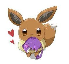 Eevee caught a Rattata!😀