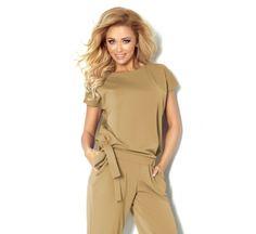 kombinezon model a beige numoco pant trouser shortplaysuitand jumpsuit Numoco