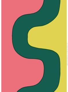 No siempre la linea recta es el mejor camino...  Seireeni (Siren), Design: Maija Isola for Marimekko
