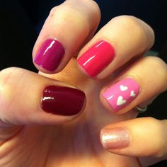 Valentine's Day Ombre and Hearts #nailart