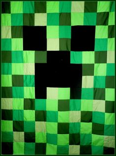 Quilt Pattern To Make Creeper Twin Full Queen by nicannmardee ... : minecraft creeper quilt pattern - Adamdwight.com