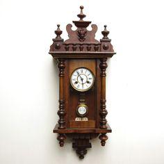 小ぶり ドイツ キンツレ製の可愛らしいアンティーク柱時計 Watch wall clock ¥86000円 〆03月27日