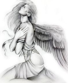 desenhos de tatuagens de anjos - Pesquisa Google