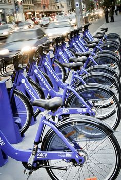 Hop on the Melbourne bike share, perfect for whizzing around the city!