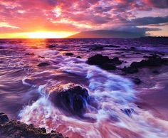 I've seen many a sunset from here -- Kama'ole Beach, Sunset, Kihei, Maui, Hawaii