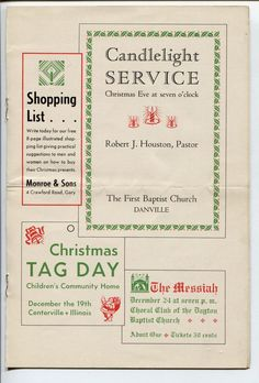 Free antique Christmas graphics from the 1940s Public domain