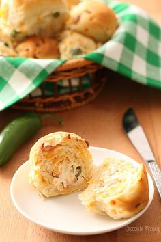These aren't just any ol' dinner rolls. These are buttery, flaky dinner rolls STUFFED with jalapeno, bacon, cheese, and cream cheese.