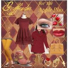 """""""Gryffindor for the Plus Sized Apple!"""" by stevie-sm-williams on Polyvore  sneakygeekyfashion.blogspot.com"""