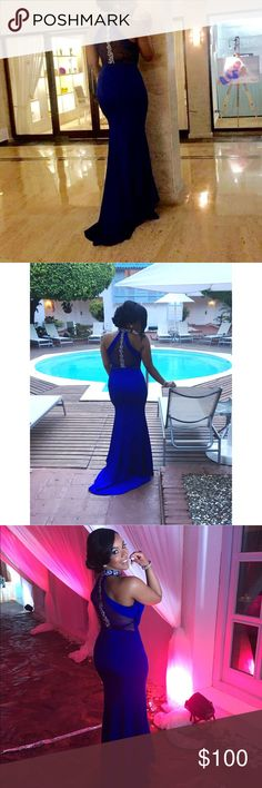 Royal blue gown Royal blue gown for any occasion in good condition only worn once Dresses Prom