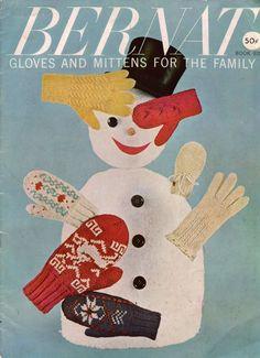 Bernat 82 Gloves Mittens Family Knitting Patterns Cable Fair Isle Angora 1959 #Bernat #KnittingPatterns