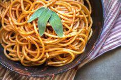 White Truffle Oil Pasta with Tomato Sauce