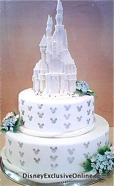 Disney castle wedding cake with hidden mickeys.. forget Casey. I want this for myself!! YES PLEASE!!!