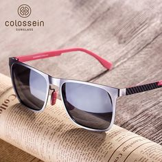 ccbbbcde7c Colossein Metal Frame Carbon Fibre Light Weight Polarized Sunglasses for  men Polarized Sunglasses