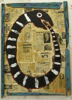 """""""Flea Market Ouroboros"""" by flea market painter Kelly Moore of New Mexico"""