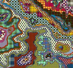 Basso  Brooke Textiles, Holy Cross, Scandinavian Design, Textile Design, Memphis, Surrealism, Abstract Art, Scarves, Backgrounds