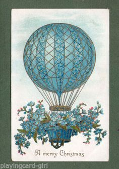 beautiful-old-embossed-Postcard-shows-airballoon-airship-045