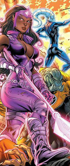 Star Sapphire Fatality in Green Lantern: New Guardians 12 - Art by Tyler Kirkham, Matt Banning, Nei Ruffino, & Wes Hartman