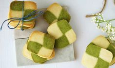 Miss Hangrypants: Matcha Checkerboard Shortbread Cookies Shortbread Cookies With Icing, Green Tea Dessert, What Is Baking, Pinwheel Cookies, Green Tea Recipes, Sweet Pastries, Matcha, Finger Food, Cookie Recipes