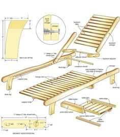 Wooden Lounge Chair Plans plans for wood lounge chair Reclining Lounge Chair Wooden Beach Chairs, Wood Patio Chairs, Outdoor Chairs, Lounge Chairs, Lawn Chairs, Wooden Pool, Pool Lounge, Wooden Garden, Outdoor Lounge