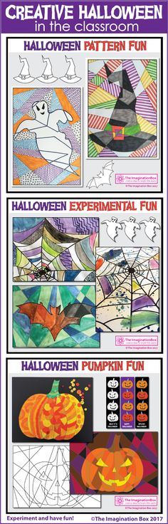 Are you looking for some awesome spooky Halloween art activities for kids? Download this printable coloring pages pack for children. Ideal for teachers to use for easy Halloween art projects in the classroom. These templates make great spooky halloween decorations for the classroom. Includes pumpkin, witch's hat, spiderweb, ghouls, bats #halloween