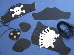 Pirate hat! Great for birthday party activity.