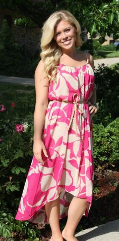 Dottie Couture Boutique - Fuchsia Printed Dress, $54.00 (http://www.dottiecouture.com/copy-of-fuchsia-printed-dress/)
