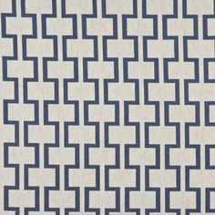 A0002E Blue And Off White, Modern, Geometric Upholstery Fabric By The Yard 1