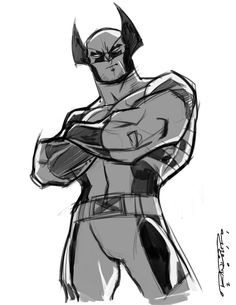Sketch::Wolverine by *KharyRandolph on deviantART