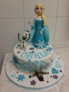 Tarta fondant frozen Elsa